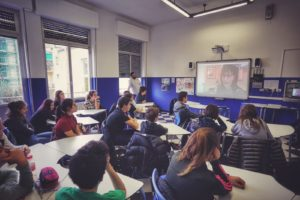 présentation classe de l'historienne Italie
