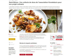 Article Ouest France St Brieuc - 06/02/21