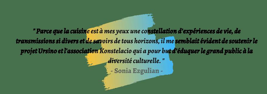 Citation de Sonia Ezgulian