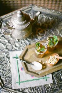 Thé à la menthe et aux pignons, Tunisie